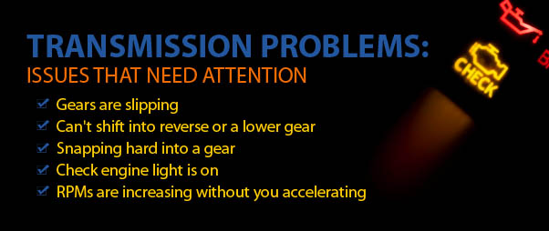 Transmission Problem Signs