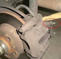 leaking brake caliper