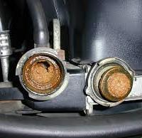 clogged car radiator